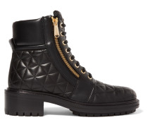 Army Gesteppte Ankle Boots Aus Leder -
