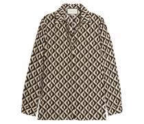 Seidenhemd aus bedrucktem Crêpe de Chine