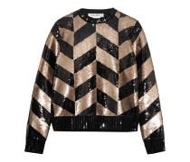 Sweatshirt aus Wolle mit Pailletten