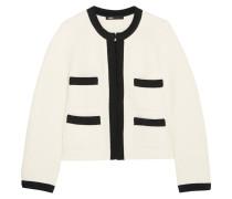 Jacke aus einer Baumwollmischung mit Ripsbandbesatz