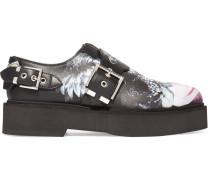 Loafers aus Leder mit Print und Plateau