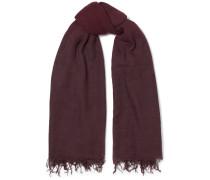Schal aus einer Kaschmir-seidenmischung mit Farbverlauf und Fransen -