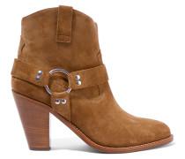 Curtis Ankle Boots Aus Veloursleder - Camel