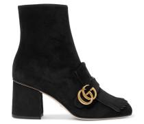 Marmont Ankle Boots Aus Veloursleder Mit Haferlasche -