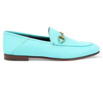 Loafers Aus Leder Mit Horsebit-detail - Hellblau