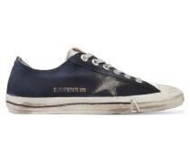 V-star 2 Sneakers Aus Denim Mit Lederbesatz - Mittelblauer Denim