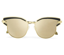 Superstars Felipe farbene, Verspiegelte Sonnenbrille Mit Cat-eye-rahmen