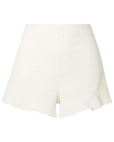 London Shorts aus einer Leinenmischung