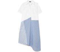 Asymmetrisches Kleid Aus Baumwollpopeline -
