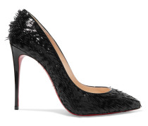 Pigalle Follies 100 Pumps Aus Lackleder Mit Fransen -