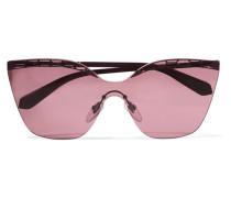 Serpenti Sonnenbrille mit Cat-eye-rahmen aus Metall -