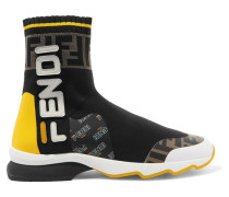 + Fila Sneakers aus Stretch-strick und Mesh