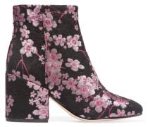 Taye Ankle Boots Aus Brokat Mit Blumenprint - Pink