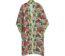 Rosa Mexicana Bedruckter Kimono Aus Chiffon - Rot