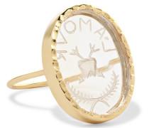 L'amour Ring aus 9 Karat  mit Kristall