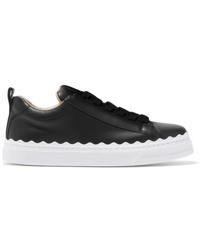 Lauren Sneakers aus Leder mit Wellenkante