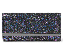 Milla Clutch Aus Leder Mit Glitter-finish - Navy