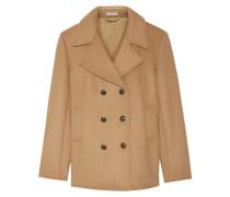 Doppelreihiger Mantel Aus Einer Wollmischung - Camel