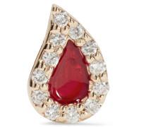 Blood Drop Ohrring Aus 14 Karat  Mit Diamanten Und Emaille