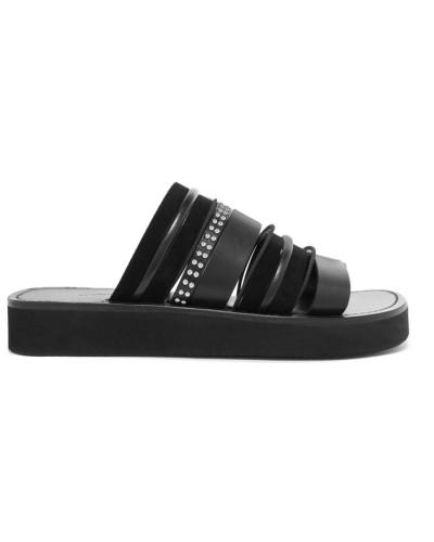 3.1 phillip lim Damen Eva Nietenverzierte Sandalen aus Leder und Veloursleder