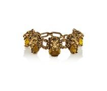 Goldfarbenes Armband mit Kristallen