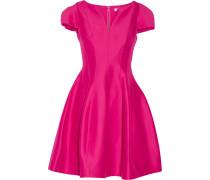 Ausgestelltes Kleid Aus Einer Baumwoll-seidenmischung - Fuchsia