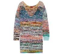 Pulloverkleid Aus Einer Melierten Kaschmir-wollmischung In Oversized-passform - Blau