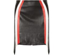 Minirock Aus Leder Mit Streifen -