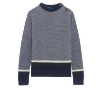 Gestreifter Pullover Aus Einer Wollmischung - Blau