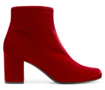 Babies Ankle Boots Aus Samt - Rot