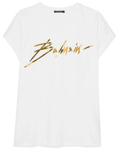 T-shirt aus Baumwoll-jersey mit Print