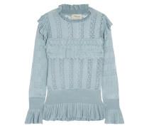 Cypre Pullover Aus Pointelle-strick Mit Rüschen -