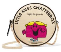 Little Miss Chatterbox Schultertasche Aus Baumwoll-faille Mit Applikation - Creme