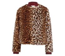 Ferris Bomberjacke Aus Faux Fur Mit Leopardenprint - Leoparden-Print