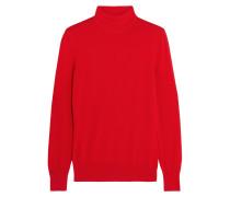 Rollkragenpullover Aus Roter Wolle
