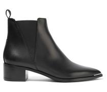 Jensen Ankle Boots Aus Leder - Schwarz