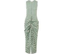 Zadie Kariertes Kleid Aus Popeline Mit Raffung -