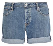 Shorts Aus Stretchdenim - Mittelblauer Denim