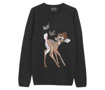 Bambi Paillettenverzierter Pullover Aus Merinowolle - Schiefer
