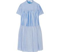 Gestuftes Kleid Aus Einer Ramie-mischung - Hellblau