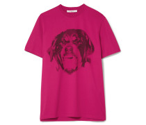 Bedrucktes T-shirt Aus Baumwoll-jersey -