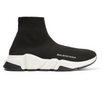 Speed Runner High-top-sneakers Aus Stretch-strick -