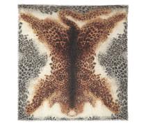 Tuch aus einer Seiden-Modalmischung mit Leopardenprint