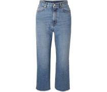 Verkürzte, Ausgefranste Jeans