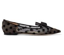 Gala Flache Schuhe Mit Spitzer Kappe Und Flockdruck - Schwarz