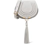 Marcie Mini Schultertasche aus Veloursleder und Strukturiertem Leder mit Details im überwendlichstich -