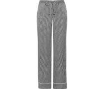 Avery Bedruckte Pyjama-hose Aus Vorgewaschener Seide -
