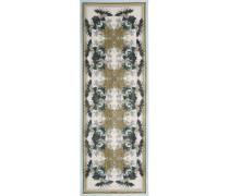Bedrucktes Tuch Aus Einer Baumwoll-seidenmischung - Armeegrün
