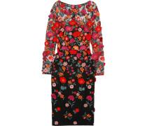Besticktes Kleid Aus Tüll Mit Applikationen -