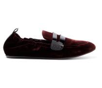 Loafers Aus Samt Mit Lacklederbesatz -